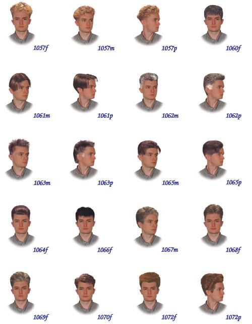 Список мужских причесок